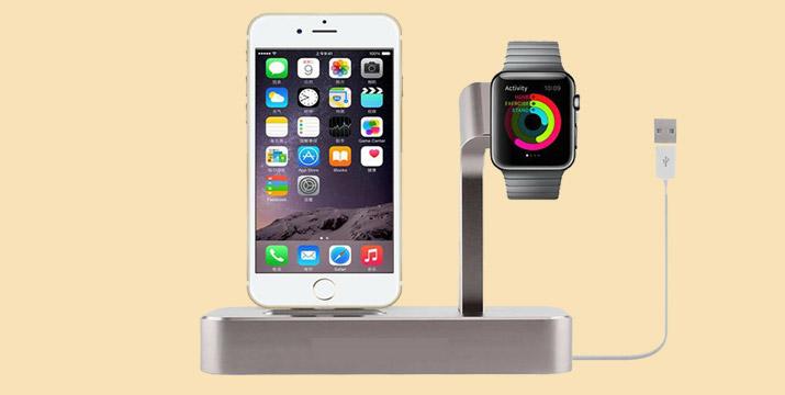 """10,90€ από 29,90€ (-64%) για ένα Stand Φόρτισης 2 σε 1 iPhone και Apple Watch για τα μοντέλα iPhone 6, 6 Plus, 6s, 6s Plus και Apple Watch, Sport, Edition 38mm42mm, με παραλαβή ή δυνατότητα πανελλαδικής αποστολής στο χώρο σας από το """"Idea Hellas"""" στη Νέα Ιωνία."""