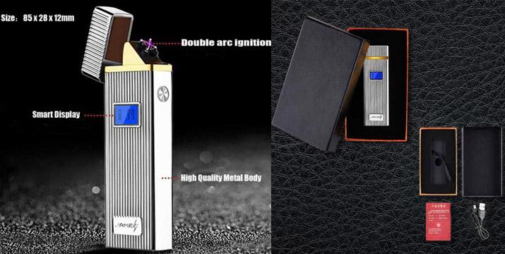 16,90€ από 22,90€ για έναν Επαναφορτιζόμενο Aντιανεμικό Aναπτήρα με LCD οθόνη σε ασημί ή λευκό χρώμα, με δυνατότητα παραλαβής και πανελλαδικής αποστολής στο χώρο σας από την DoneDeals Goods.