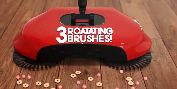 22,90€ από 29,90€ για το Spin Broom 3 σε 1 που περιλαμβάνει σκούπα, ξεσκονόπανο και κάδο όλα σε ένα, με περιστροφή μέχρι 360 μοίρες, χειροκίνητη λειτουργία, δοχείο για τη σκόνη και κατάλληλο για όλες τις επιφάνειες, με ΔΩΡΕΑΝ πανελλαδική αποστολή στο χώρο σας από το κατάστημα Virals.Shop.