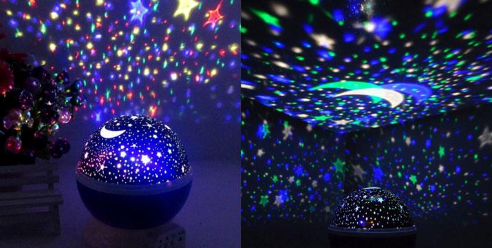 12,90€ από 19,90€ για ένα Περιστρεφόμενο Φωτιστικό Δωματίου με Projector σε τρία χρώματα, με δυνατότητα παραλαβής και πανελλαδικής αποστολής στο χώρο σας από την DoneDeals Goods.