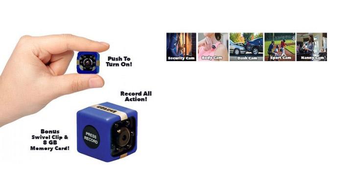 24,90€ από 34,90€ για μια Μini Φορητή Κάμερα με 8GB Κάρτα Μνήμης - Cop Cam, με παραλαβή από το κατάστημα Magic Hole στο Παγκράτι και με δυνατότητα πανελλαδικής αποστολής.