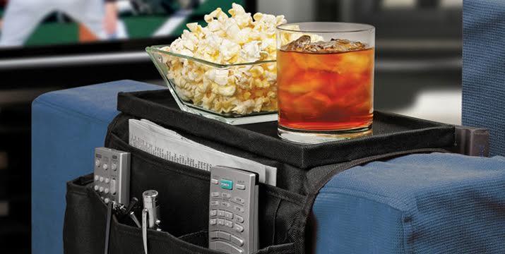 5,90€ από 9,90€ για μια Θήκη Οργάνωσης για τον καναπέ με βάση για ποτά, αναψυκτικά, τηλεκοντρόλ και άλλα, σε μάυρο χρώμα, με δυνατότητα παραλαβής και πανελλαδικής αποστολής στο χώρο σας από την DoneDeals Goods.