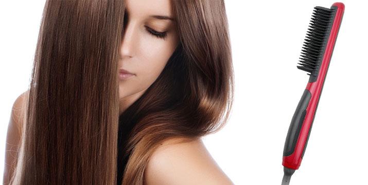 """16,50€ από 49,90€ (-67%) για μία Κεραμική Θερμαινόμενη Ισιωτική Βούρτσα Μαλλιών, με 6 διαφορετικά επίπεδα θερμότητας ανάλογα με τον τύπο μαλλιών, που ισιώνει πανεύκολα τα μαλλιά χωρίς να σπάει τις άκρες, με παραλαβή από το """"Idea Hellas"""" και δυνατότητα πανελλαδικής αποστολής στο χώρο σας."""