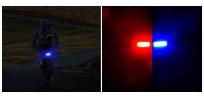 12,50€ από 18,50€ για έναν Επαναφορτιζόμενο Φακό Ποδηλάτου για το πίσω μέρος με Μπλε/Κόκκινο φωτισμό, με δυνατότητα παραλαβής και πανελλαδικής αποστολής στο χώρο σας από την DoneDeals Goods.