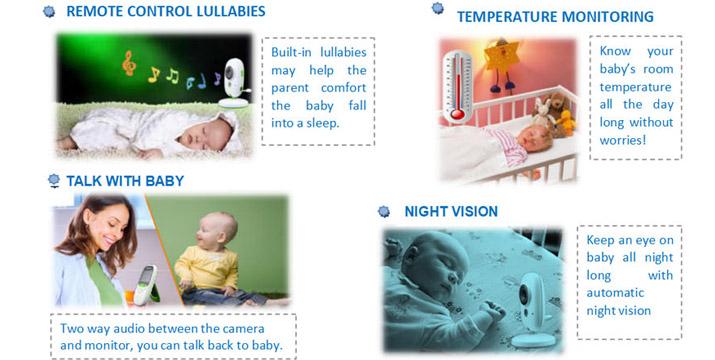 """59,90€ από 89,90€ για ένα Ασύρματο Baby Monitor 2″ με Νανουρίσματα, Κάμερα Νυχτός, Έγχρωμη οθόνη LCD και 1 Χρόνο Εγγύηση, με παραλαβή ή δυνατότητα πανελλαδικής αποστολής στο χώρο σας από το """"Idea Hellas"""" στη Νέα Ιωνία."""