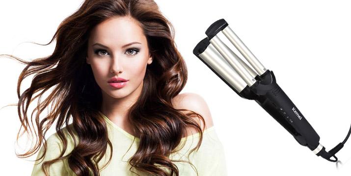 """15,90€ από 28,90€ για ένα Τριπλό Ηλεκτρικό Ψαλίδι για Κυματιστά Μαλλιά, με παραλαβή ή δυνατότητα πανελλαδικής αποστολής στο χώρο σας από το """"Idea Hellas"""" στη Νέα Ιωνία. εικόνα"""