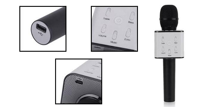 """26,90€ από 39,90€ για ένα Φορητό Ασύρματο Bluetooth Μικρόφωνο Καραόκε με ηχείο, κατάλληλο για iOS και Android smartphones & tablet, με παραλαβή ή δυνατότητα πανελλαδικής αποστολής στο χώρο σας από το """"Idea Hellas"""" στη Νέα Ιωνία."""