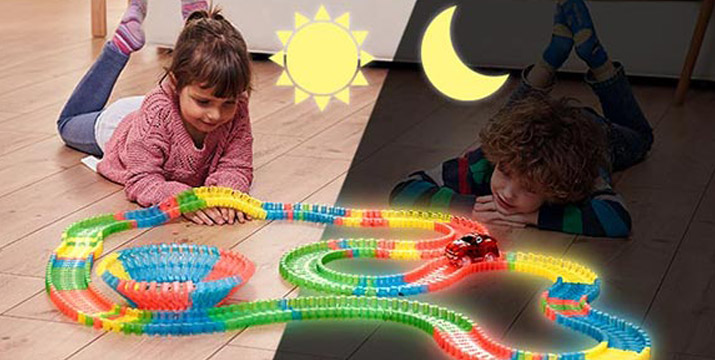 """13,90€ από 29,90€ (-53%) για έναν Αυτοκινητόδρομο με Φως – Magic Tracks για παιδιά, με παραλαβή ή δυνατότητα πανελλαδικής αποστολής στο χώρο σας από το """"Idea Hellas"""" στη Νέα Ιωνία."""