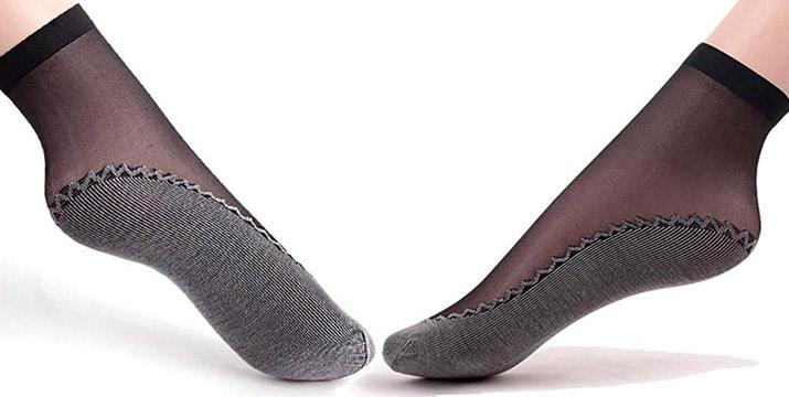 6,90€ από 11,90€ για ένα Σετ 6 Τεμαχίων Μεταξωτές Γυναικείες Κάλτσες με Πάτο από Ενισχυμένο Βαμβάκι σε μαύρο χρώμα, με δυνατότητα παραλαβής και πανελλαδικής αποστολής στο χώρο σας από την DoneDeals Goods. εικόνα