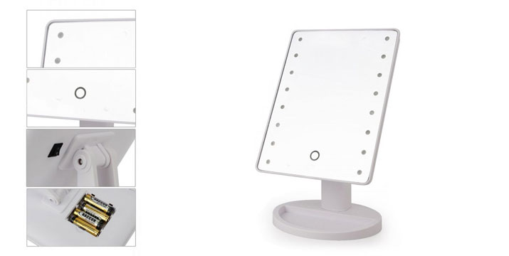 10,90€ από 19,90€ για έναν Περιστρεφόμενο Καθρέπτη Μακιγιάζ με 16 LEDs και μπαταρίες σε λευκό χρώμα,  με παραλαβή από το κατάστημα Magic Hole στο Παγκράτι και με δυνατότητα πανελλαδικής αποστολής.