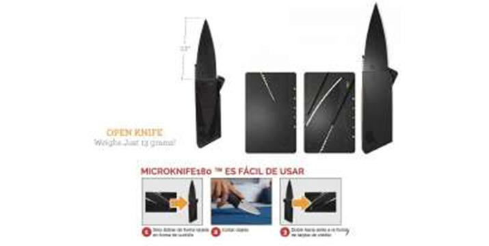 6,90€ από 10,90€ για ένα Πτυσσόμενο Μαχαίρι σε σχήμα πιστωτικής κάρτας (σετ 2 τεμαχίων) - Micro Knife 180, με παραλαβή από το κατάστημα Magic Hole στο Παγκράτι και με δυνατότητα πανελλαδικής αποστολής.