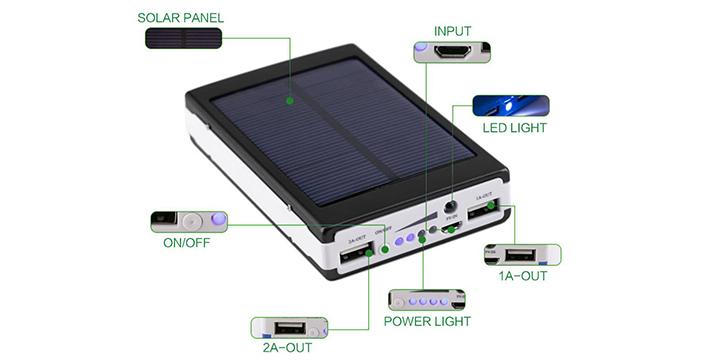 13,90€ από 29,90€ (-53%) για ένα Ηλιακό Power Bank 20000mAh με 2 USB για κινητά, tablet και κάμερες και με ενσωματωμένο φακό από 20 LED, με δυνατότητα να φορτίζει δύο συσκευές ταυτόχρονα,με παραλαβή από το κατάστημα Magic Hole στο Παγκράτι και με δυνατότητα πανελλαδικής αποστολής.
