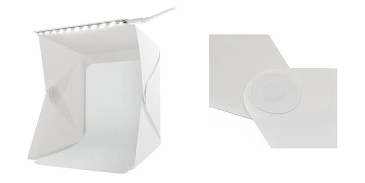 12,90€ από 19,90€ για ένα Αναδιπλούμενο Μίνι Σετ Φωτογραφικό Στούντιο με LED Φωτισμό, με δυνατότητα παραλαβής και πανελλαδικής αποστολής στο χώρο σας από την DoneDeals Goods