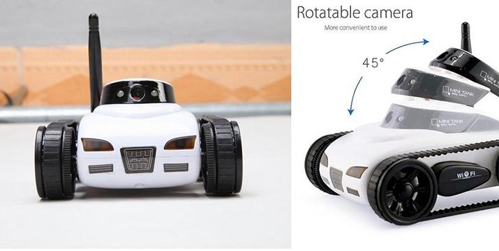 49,90€ από 78€ για ένα Μίνι Κατασκοπικό Τηλεκατευθυνόμενο Αμαξάκι-Άρμα με Κάμερα Χειριζόμενο μέσω Wifi με Εφαρμογή Android/IOS 777-270 Λευκό, με παραλαβή από το Idea Hellas και δυνατότητα πανελλαδικής αποστολής στο χώρο σας.