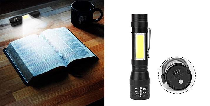 5,90€ από 14€ (-58%) για έναν Επαναφορτιζόμενο Mini φακό με LED με ZOOM, με παραλαβή από το κατάστημα Magic Hole στο Παγκράτι και με δυνατότητα πανελλαδικής αποστολής.