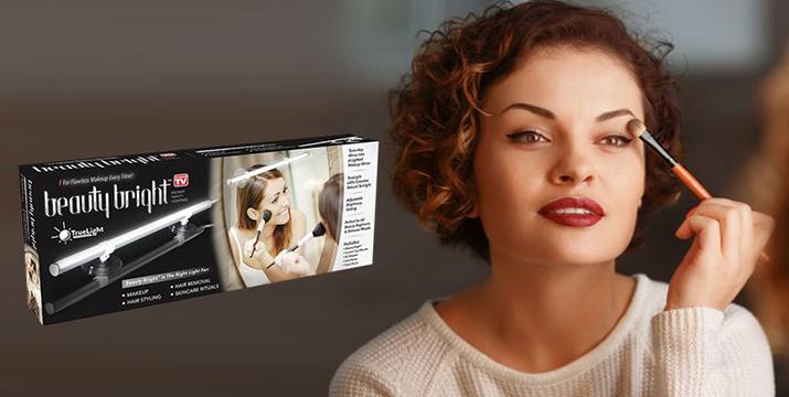 7,9€ από 13,90€ (-43%) για ένα Φωτιστικό Μπάρα LED για Μακιγιάζ Beauty Bright, για να μετατρέψετε οποιονδήποτε καθρέφτη σας σε απόλυτο εργαλείο αισθητικής, με λειτουργία Dimmer για αυξομείωση φωτισμού, κατάλληλο και για επαγγελματίες μακιγιέρ που επισκέπτονται οικίες για την εργασία τους, με παραλαβή από το Idea Hellas και δυνατότητα πανελλαδικής αποστολής στο χώρο σας!