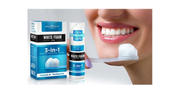 6,90€ για έναν Αφρό Λεύκανσης Δοντιών Stella White για Άμεση λεύκανση των δοντιών , με δυνατότητα παραλαβής και πανελλαδικής αποστολής στο χώρο σας από την DoneDeals Goods.