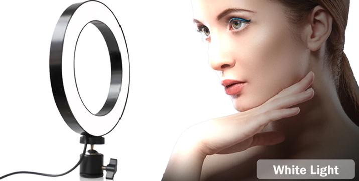 21,90€ από 34,90€ για ένα Επαγγελματικό Φωτογραφικό Φωτιστικό Δαχτυλίδι Ring Lamp Light LED USB 26cm με 3 Χρώματα Φωτισμού, Dimmer & Τρίποδο, με παραλαβή από το Idea Hellas και δυνατότητα πανελλαδικής αποστολής στο χώρο σας