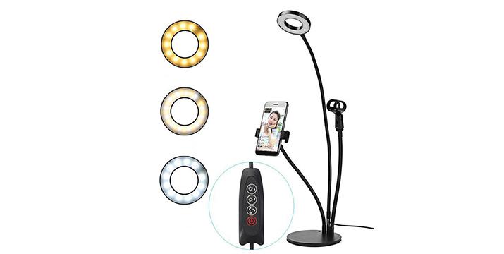 19,9€ από 39,9€ (-50%)  για ένα φωτιστικό δαχτυλίδι LED 3 σε 1 για το κινητό, με φωτιστικό, βάση κινητού και βάση μικροφώνου, για δυναμικές φωτογραφίες και video όπου και να βρίσκεστε, με παραλαβή από το Idea Hellas και δυνατότητα πανελλαδικής αποστολής στο χώρο σας.