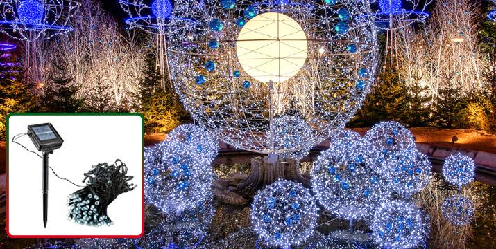 15,90€ από 25,90€ για 200 Χριστουγεννιάτικα Hλιακά Λαμπιόνια που φωτίζουν με Φωτοβολταϊκό Πάνελ 21 μέτρα, με παραλαβή από το κατάστημα Magic Hole στο Παγκράτι και με δυνατότητα πανελλαδικής αποστολής. εικόνα