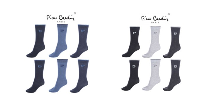 12,90€ από 29,90€ (-57%) για ένα Σετ 6 Ζευγάρια Ανδρικές Κάλτσες Pierre Cardin, με δυνατότητα παραλαβής και πανελλαδικής αποστολής στο χώρο σας από την DoneDeals Goods.