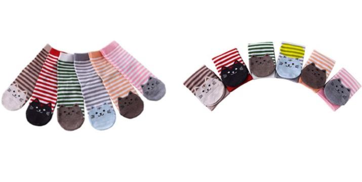 12,90€ από 24,90€ (-50%) για ένα Σετ Γυναικείες Ριγέ Κάλτσες με Σχέδιο Γάτας 6 Ζευγάρια , με δυνατότητα παραλαβής και πανελλαδικής αποστολής στο χώρο σας από την DoneDeals Goods.