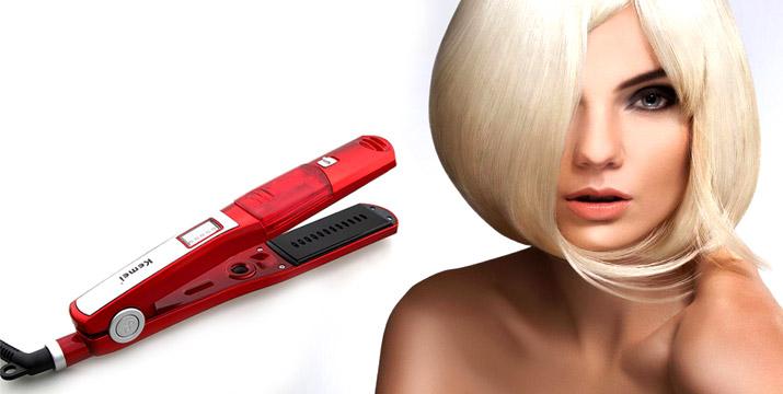 """15,90€ από 24,90€ για μια Ισιωτική Πρέσα Μαλλιών Kemei με ατμό και κεραμικές πλάκες που δεν καταστρέφουν τα μαλλιά, με παραλαβή ή δυνατότητα πανελλαδικής αποστολής στο χώρο σας από το """"Idea Hellas"""" στη Νέα Ιωνία."""