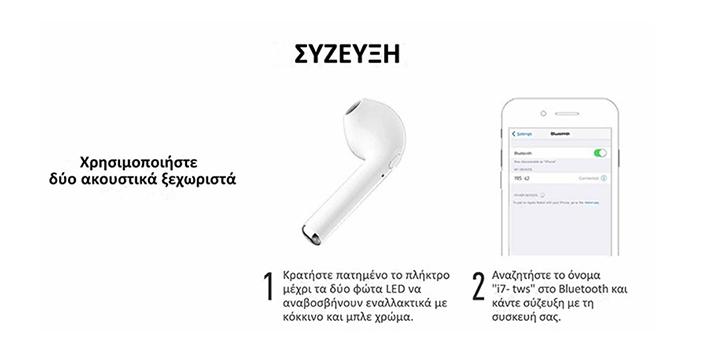 11,90€ από 29,90€ (-60%) για Ασύρματα Ακουστικά Bluetooth με Βάση Φόρτισης , με δυνατότητα παραλαβής και πανελλαδικής αποστολής στο χώρο σας από την DoneDeals Goods.
