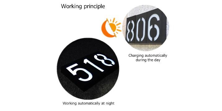 9,90€ από 16,90€ για ένα LED Επαναφορτιζόμενο Αριθμό Oικίας Νούμερο από 1-9, που ανάβει αυτόματα το βράδυ και φωτίζει το νούμερο που εσείς έχετε επιλέξει, με παραλαβή από το