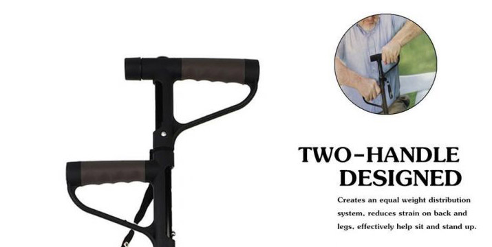 """10,90€ από 17,90€ για ένα Πτυσσόμενο Μπαστούνι με δύο Λαβές και Φακό LED, με παραλαβή ή δυνατότητα πανελλαδικής αποστολής στο χώρο σας από το """"Idea Hellas"""" στη Νέα Ιωνία."""