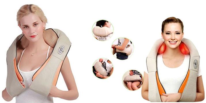 """14,90€ από 29,90€ (-50%) για μία Συσκευή Shiatsu – Μασάζ αυχένα, πλάτη, μέση και πόδια με υπέρυθρη θερμότητα, με παραλαβή ή δυνατότητα πανελλαδικής αποστολής στο χώρο σας από το """"Idea Hellas"""" στη Νέα Ιωνία. εικόνα"""