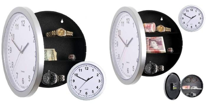 """14,90€ από 24,90€ για ένα Ρολόι Τοίχου με Κρύπτη, ιδανικό επίσης και για την φύλαξη πολύτιμων αντικειμένων μακριά από αδιάκριτα βλέμματα στο σπίτι ή στο γραφείο, με παραλαβή ή δυνατότητα πανελλαδικής αποστολής στο χώρο σας από το """"Idea Hellas"""" στη Νέα Ιωνία."""