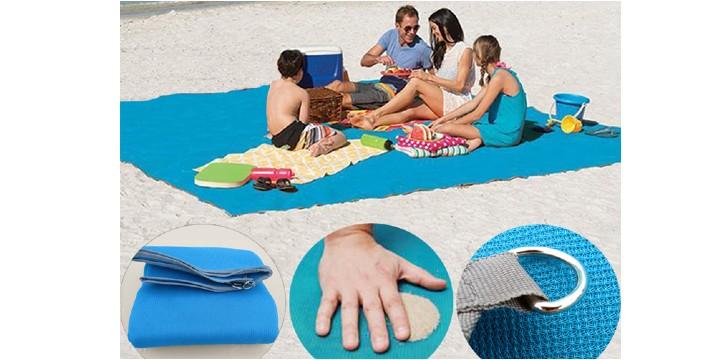 """6,90€ από 18€ (-62%) για μία Έξυπνη Ψάθα Παραλίας που Διώχνει την Άμμο Sand Leakage Beach Mat 200x150cm, με παραλαβή ή δυνατότητα πανελλαδικής αποστολής στο χώρο σας από το """"Idea Hellas"""" στη Νέα Ιωνία. εικόνα"""