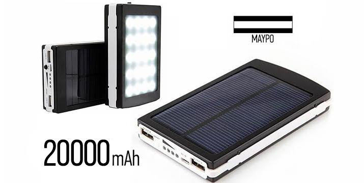 13,90€ από 29,90€ (-53%) για ένα Ηλιακό Power Bank 20000mAh με 2 USB για κινητά, tablet και κάμερες και με ενσωματωμένο φακό από 20 LED, με δυνατότητα να φορτίζει δύο συσκευές ταυτόχρονα,με παραλαβή από το κατάστημα Magic Hole στο Παγκράτι και με δυνατότητα πανελλαδικής αποστολής. εικόνα