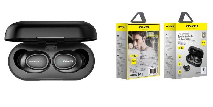 19,9€ από 29,9€ για Αδιάβροχα Bluetooth Ακουστικά AWEI με Βάση Φόρτισης– Μαύρα, με παραλαβή από το Idea Hellas και δυνατότητα πανελλαδικής αποστολής στο χώρο σας. εικόνα