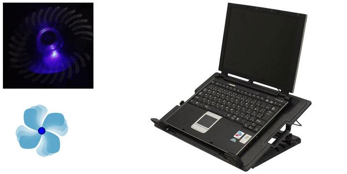 14,90€ από 24,90€ (-50%) για μία Ρυθμιζόμενη Βάση Στήριξης και Ψύξης με 2 ανεμιστηράκια για Laptop 9''-17'', με παραλαβή από το Idea Hellas και δυνατότητα πανελλαδικής αποστολής στο χώρο σας. εικόνα