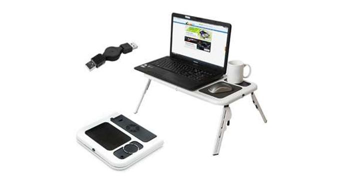 9,5€ από 19,5€ (-51%) για ένα Αναδιπλούμενο Τραπεζάκι για Laptop με 2 Ανεμιστήρες Ψύξης, με παραλαβή από το Idea Hellas