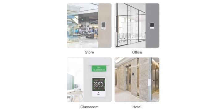 34,90€ από 59,90€ (-42%) για ένα Επιτοίχιο Ψηφιακό Θερμόμετρο Υπερήθρων Μετώπου Χωρίς Επαφή με Οθόνη, κατάλληλο για επιχειρήσεις, κλειστούς και δημόσιους χώρους,  με παραλαβή από το Idea Hellas στη Νέα Ιωνία και με δυνατότητα πανελλαδικής αποστολής στο χώρο σας.
