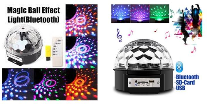 14,90€ από 29,90€ (-50%) για ένα Τηλεχειριζόμενο Φωτορυθμικό Bluetooth LED με USB Mp3 Player, με παραλαβή από το κατάστημα Magic Hole στο Παγκράτι και με δυνατότητα πανελλαδικής αποστολής.