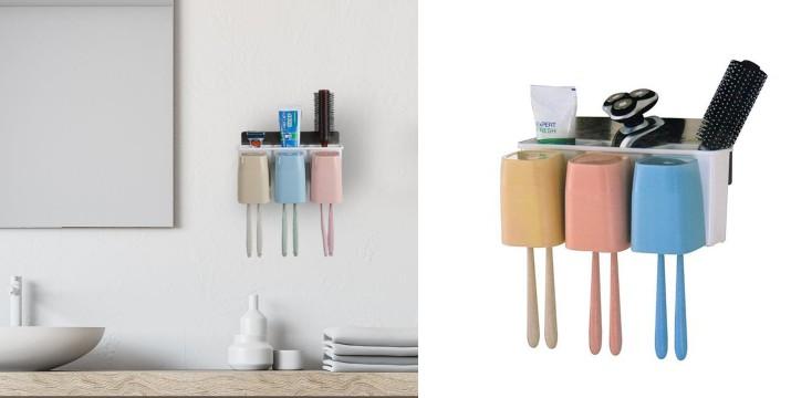 7,50€ από 14,9€ (-50%) για μια Αυτοκόλλητη θήκη τοίχου για οδοντόβουρτσες και 3 θήκες, με παραλαβή από το Idea Hellas και δυνατότητα πανελλαδικής αποστολής στο χώρο σας. εικόνα