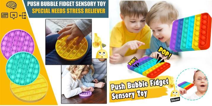 3,90€ από 8€ (-50%) για ένα Παιχνίδι Bubble Pop It Fidget Anti stress Από Σιλικόνη σε 6 χρώματα, με παραλαβή από το κατάστημα Magic Hole στο Παγκράτι και με δυνατότητα πανελλαδικής αποστολής. εικόνα