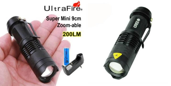 3,90€ από 9,90€ (-60%) για ένα Eπαναφορτιζόμενο Mini Φακός LED, με παραλαβή από το Idea Hellas και δυνατότητα πανελλαδικής αποστολής στο χώρο σας.