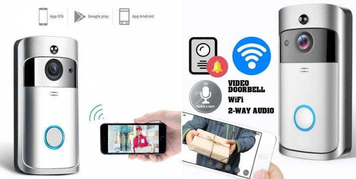 """34,90€ από 70€ (-50%) για ένα Wifi Κουδούνι Πόρτας 1080p Full HD Κάμερα – Video Δικτυακό Doorbell Two-way Audio, με παραλαβή ή δυνατότητα πανελλαδικής αποστολής στο χώρο σας από το """"Idea Hellas"""" στη Νέα Ιωνία."""