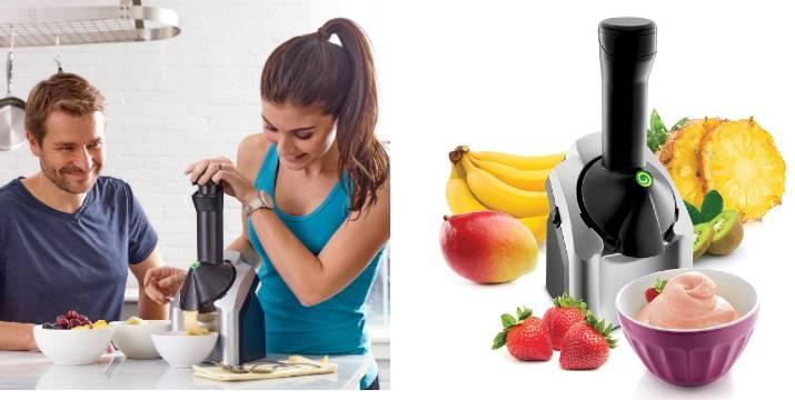 """23,90€ από 50€ (-52%) για μία (1) μηχανή για παγωμένα επιδόρπια ''Frozen Yoghurt Fruit Ice Cream Maker'', για να φτιάξετε πανεύκολα σορμπέ φρούτων, frozen yogurt, γρανίτες και παγωτά στο λεπτό, χρησιμοποιώντας μόνο φρούτα που έχετε προηγουμένως καταψύξει, με παραλαβή από το """"Idea Hellas"""" στη Νέα Ιωνία και δυνατότητα πανελλαδικής αποστολής."""