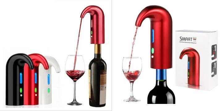 """23,90€από 39,90€ (-40%) για μία Επαναφορτιζόμενη Συσκευή Αερισμού και Έκχυσης Κρασιού – Smart Wine Aerator & Dispenser, με παραλαβή από το """"Idea Hellas"""" στη Νέα Ιωνία και δυνατότητα πανελλαδικής αποστολής."""