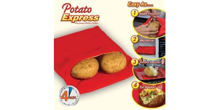 4,90€ από 11€ (-55%) για μία Θήκη Μαγειρέματος Πατάτας σε φούρνο μικροκυμάτων – Potato Express, με παραλαβή ή δυνατότητα πανελλαδικής αποστολής στο χώρο σας από το Idea Hellas στη Νέα Ιωνία.